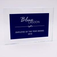 Trophée plaque bleu